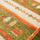 アマレ・141×53・緑・橙色・糸杉・鹿・廊下敷き・アップ画