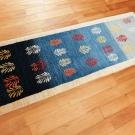 アマレ・155×54・青色・グラデーション・木・廊下敷き・キッチンサイズ・使用イメージ画