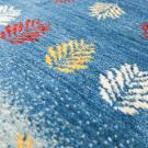 アマレ・155×54・青色・グラデーション・木・廊下敷き・キッチンサイズ・アップ画