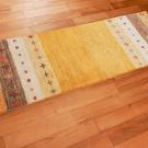 アマレ・143×50・黄色・ひし形・シンプル・廊下敷き・使用イメージ画