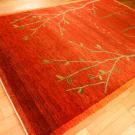 アマレ・大型ルームサイズ・赤色・生命の樹、鹿・使用イメージ画