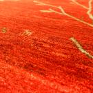 アマレ・大型ルームサイズ・赤色・生命の樹、鹿・アップ画