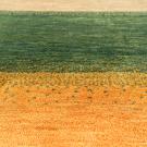 カシュクリ・大型ルームサイズ・緑色、ベージュ、黄色・アップ画