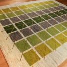 アマレ・大型ルームサイズ・緑色、原毛、グラデーション・生命の樹・使用イメージ画