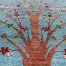 ルリバフ・大型ルームサイズ・青色、グラデーション・生命の樹・アップ画