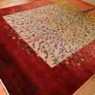 ルリバフ・大型ルームサイズ・赤色、カラフル・グラデーション・生命の樹・使用イメージ画