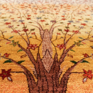 ルリバフ・大型ルームサイズ・赤色、カラフル・グラデーション・生命の樹・アップ画