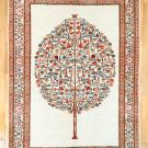 ルリバフ・ザクロの木・原毛・植物・白色・リビングサイズ・真上画