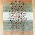 ルリバフ・リビングサイズ・原毛、赤色・グラデーション・ザクロ・真上画