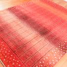 アマレ・リビングサイズ・赤色・グラデーション・生命の樹・花・使用イメージ画