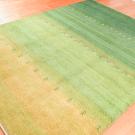 シャクルー・リビングサイズ・緑色・グラデーション・ラクダ、草花・使用イメージ画