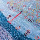 アマレ・センターラグサイズ・青色・生命の樹・アップ画