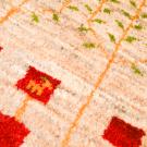 アマレ・玄関マットサイズ・赤色、原毛・生命の樹、動物・アップ画