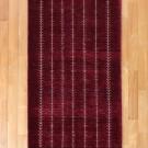 カシュクリ・241×84・赤紫・生命の樹・キッチンマット・廊下敷き・真上画