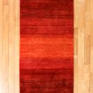 シャクルー・193×77・赤色・グラデーション・シンプル・キッチンマット・廊下敷き・真上画