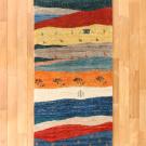 カシュクリ・293×68・カラフル・テント・羊・木・キッチンマット・廊下敷き・真上画