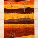 カシュクリランドスケープ・115×78・赤色・生命の樹・風景・玄関マットサイズ・真上画