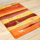 カシュクリランドスケープ・115×78・赤色・生命の樹・風景・玄関マットサイズ・使用イメージ画