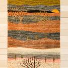 カシュクリランドスケープ・123×78・ピンク・生命の樹・風景・玄関マットサイズ・真上画