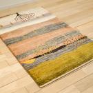 カシュクリランドスケープ・123×78・ピンク・生命の樹・風景・玄関マットサイズ・使用イメージ画