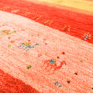 カシュクリランドスケープ・200×79・赤色・ラクダ・風景・木・キッチンマット・廊下敷き・アップ画