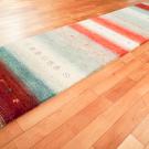 カシュクリ・291×69・赤色・水色・原毛・木・羊・キッチンマット・廊下敷き・使用イメージ画