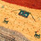 カシュクリ・293×68・カラフル・テント・羊・木・キッチンマット・廊下敷き・アップ画