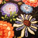 ルリバフ・215×80・花・カラフル・キッチンマット・廊下敷き・アップ画