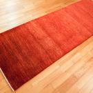アマレ・242×82・赤色・シンプル・キッチンサイズ・廊下敷き・使用イメージ画