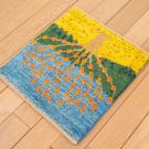 アマレランドミニ大・45×41・水色・生命の樹・黄色・緑・使用イメージ画