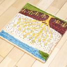 アマレランドミニ・36×39・白色原毛・生命の樹・ミニギャッベ・使用イメージ画