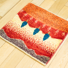 アマレランドミニ大・ 42×44・赤色・原毛・糸杉・ミニギャッベ・使用イメージ画