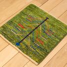 アマレミニ・38×38・緑色・生命の樹・ミニギャッベ・使用イメージ画