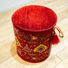 バルーチスペシャルボックス・赤色・女の子・花・スツール・使用イメージ画