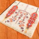 アマレランドミニ・38×38・白色原毛・糸杉・生命の樹・ミニギャッベ・使用イメージ画