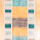 アマレ・200×121・青緑・黄色・グレー・鹿・センターラグサイズ・真上画
