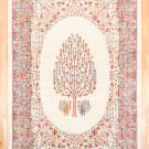 ルリバフ・315×198・白色原毛・生命の樹・植物・大型ルームサイズ・真上画