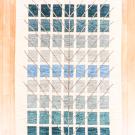 アマレ・189×121・生命の樹・青緑・センターラグサイズ・真上画