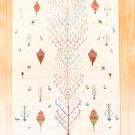 アマレ・189×118・白原毛・生命の樹・糸杉・ラクダ・鹿・センターラグサイズ・真上画
