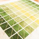アマレ・249×205・緑色・グラデーション・生命の樹・白原毛・大型ルームサイズ・使用イメージ画