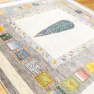 アマレ・205×206・糸杉・魚・鳥・白原毛・茶色・大型ルームサイズ・使用イメージ画