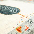 アマレ・205×206・糸杉・魚・鳥・白原毛・茶色・大型ルームサイズ・アップ画