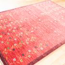アマレ・181×123・赤色・花・木・鹿・センターラグサイズ・使用イメージ画
