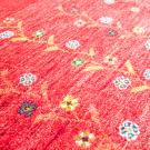 アマレ・181×123・赤色・花・木・鹿・センターラグサイズ・アップ画