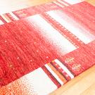 アマレ・185×120・赤色・白原毛・生命の樹・センターラグサイズ・使用イメージ画