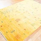 アマレ・175×119・黄色・生命の樹・羊・センターラグサイズ・使用イメージ画