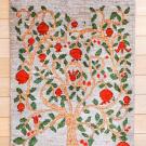 ルリバフ・88×58・水色・ザクロの木・玄関サイズ・真上画