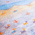 カシュクリ・90×63・水色・羊・風景・玄関サイズ・アップ画