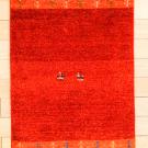 アマレ・90×59・赤色・鹿・木・玄関サイズ・真上画