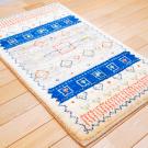 アマレ・92×58・ラクダ・原毛・羊・青色・玄関サイズ・使用イメージ画